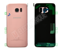 VITRE ARRIERE ROSE SAMSUNG GALAXY S7 EDGE
